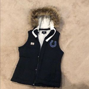 Indianapolis Colts NFL vest with fur
